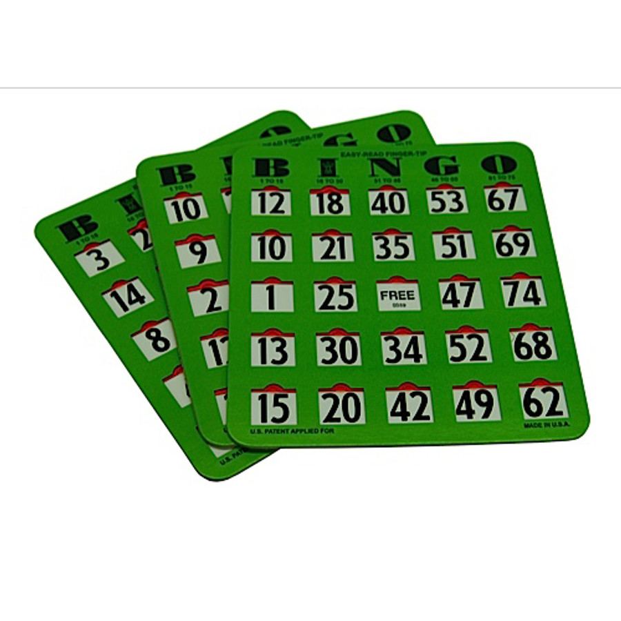 Easy Read Finger Tip Bingo Card