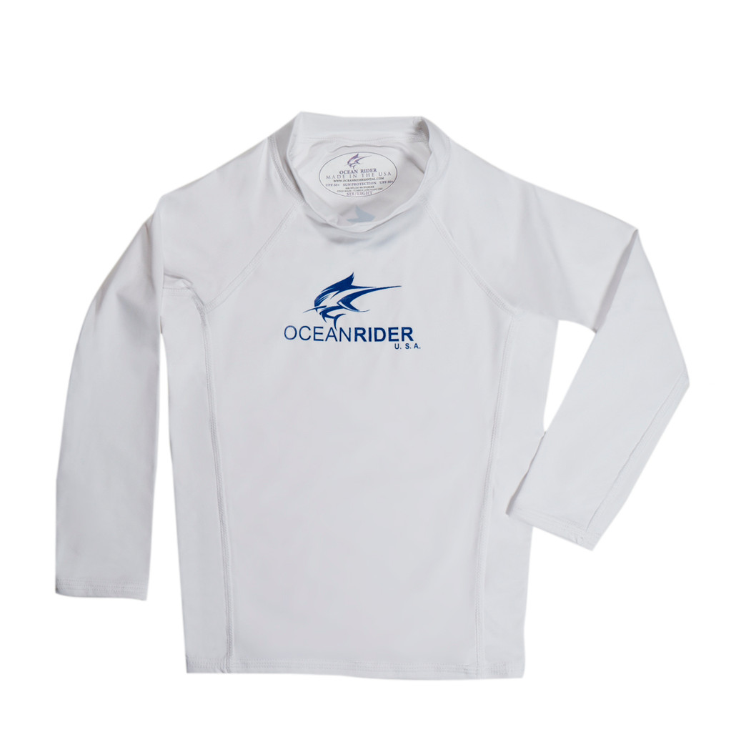 Ocean Rider Sun Protective Clothing for Kids - SPF 50 Kid's Shirt - UPF 50 Kid's Long Sleeve - Made in the USA