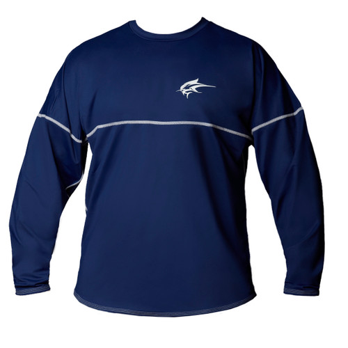 Ocean Rider Sun Protective Clothing | Men's Performance UPF 50 Long Sleeve Jersey | Navy | Front