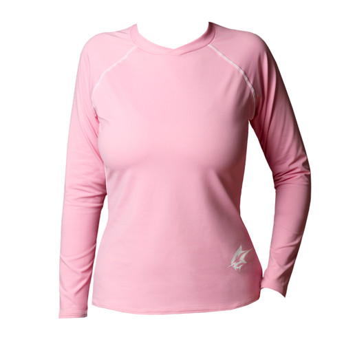 Ocean Rider Sun Protective Clothing Women's Performance UPF 50 Shirt | Pink | Front | Made in the USA