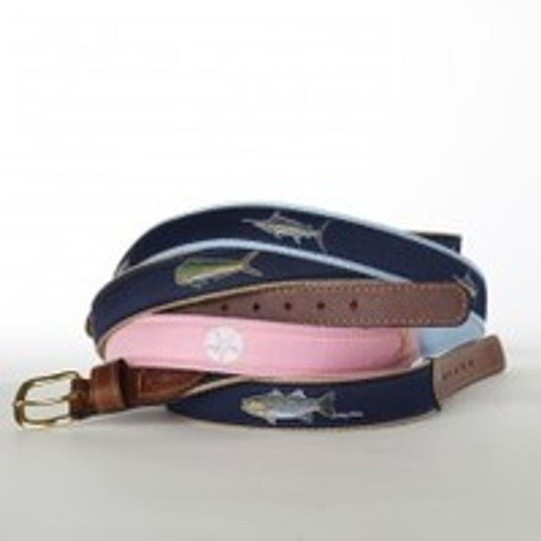 Belts with Fish on Them - Ocean Rider Belts