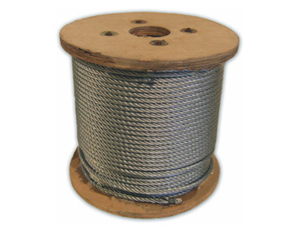 HarborWare Galvanized Steel Cable, 1/4-inch 1000'
