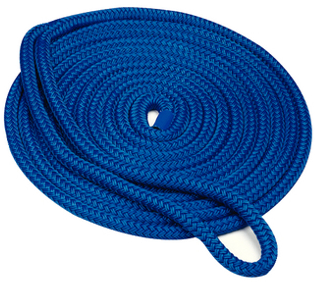 "Seachoice Double Braid Dock Line Blue 3/4""X25'"
