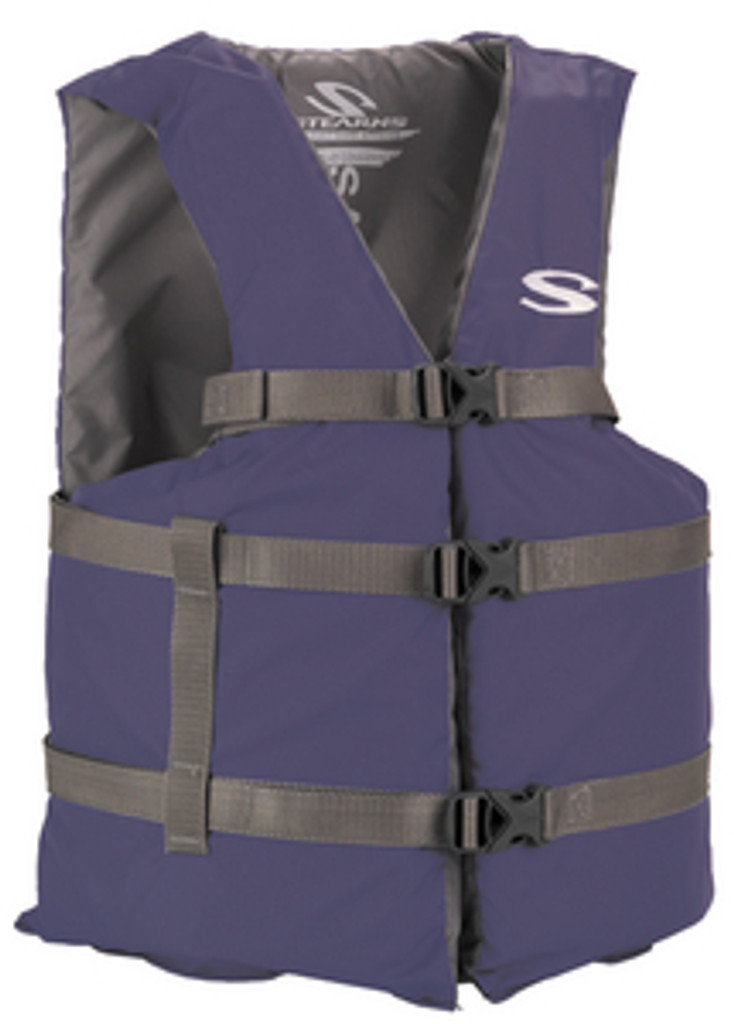 Stearns Type III General Purpose Vest, Blue, Standard Fit