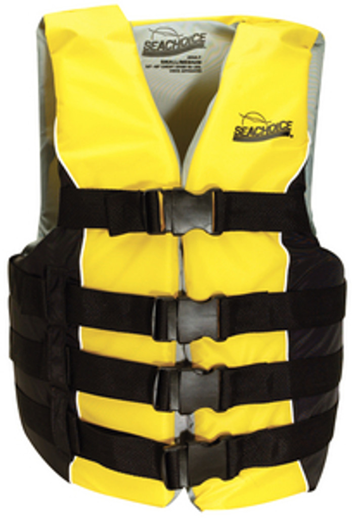 Seachoice Deluxe 4-Belt Ski Vest, Yellow