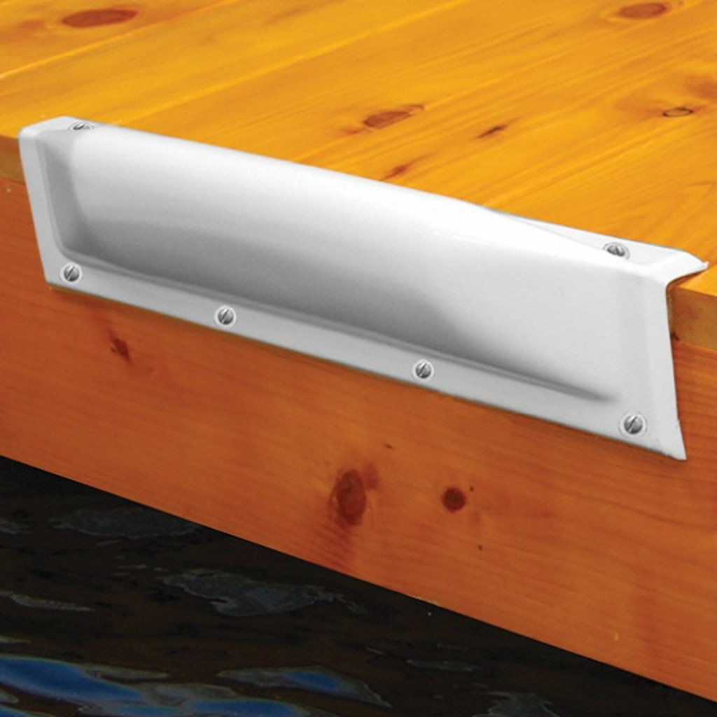 Taylor Made Dock Pro Straight Bumper, White