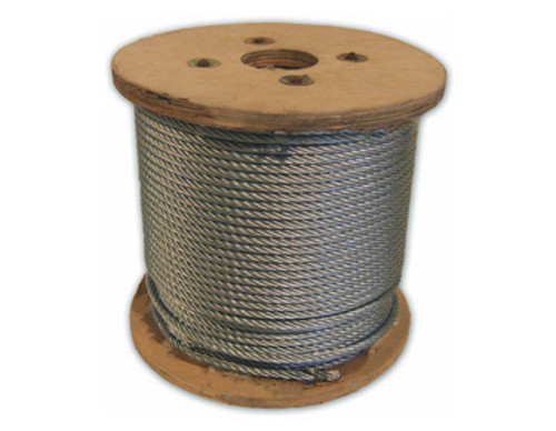 HarborWare Galvanized Steel Cable, 1/4-inch 500'