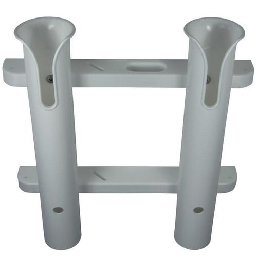 TACO Metals 2-Rod White PVC Deluxe Fishing Rod Rack