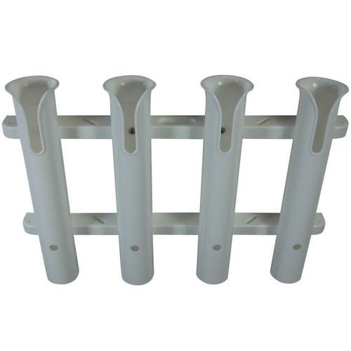 TACO Metals 4-Rod White PVC Deluxe Fishing Rod Rack