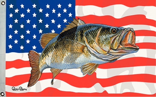 Taylor Made Flag US/Bass 16X24