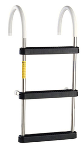 Garelick 4 Step Stainless Steel Gunwale Hook Ladder