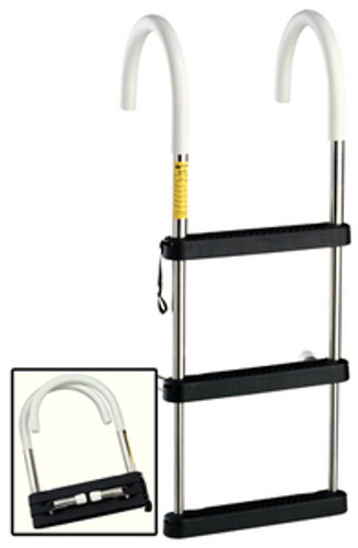 Garelick 3 Step Stainless Steel Telescoping Hook Ladder