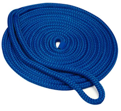 """Seachoice Double Braid Dock Line Blue 1/2""""X20'"""