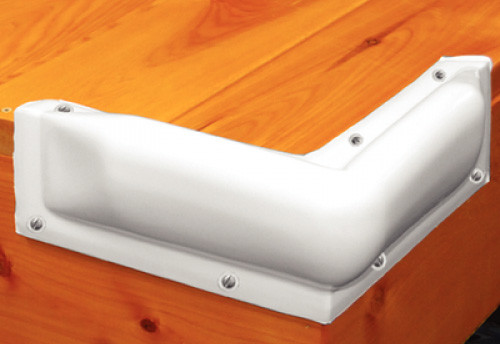 Taylor Made Dock Pro Corner Bumper, White
