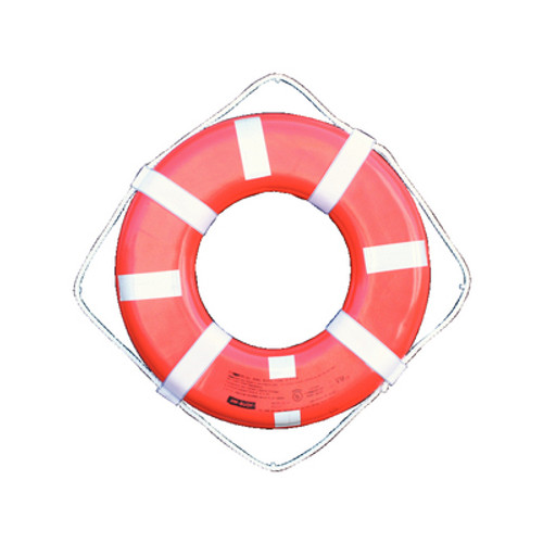 Cal-June G Style Orange Life Ring Buoy w/ Reflective Tape, 24""