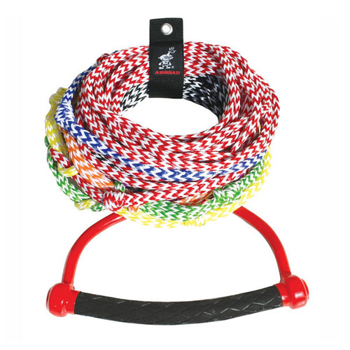 Kwik Tek 8 Section Radius Handle Ski Rope, 75'
