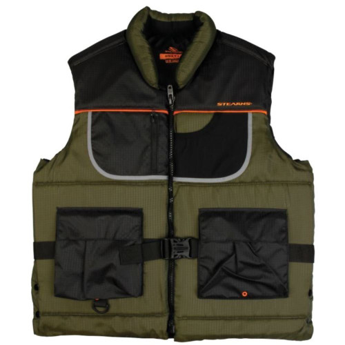 Stearns Adult Nylon Fishing PFD Vest, Green
