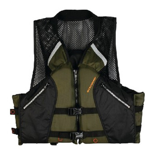 Stearns Adult Comfort Collar Fishing PFD Vest, Green