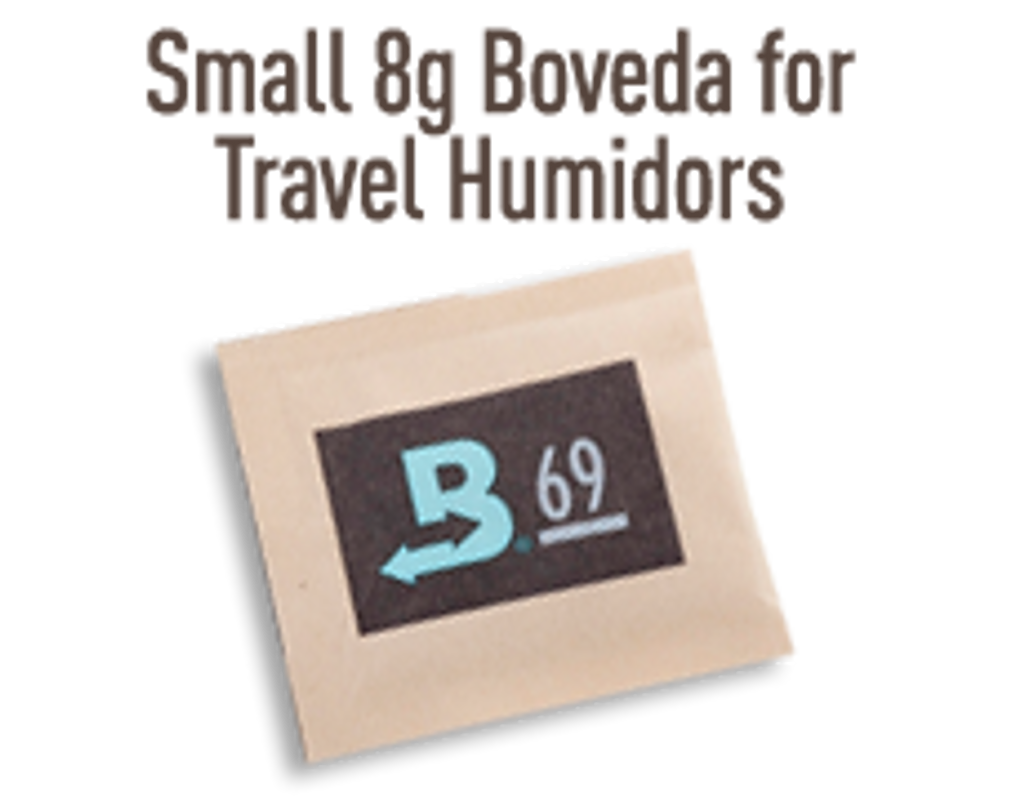 Boveda 8 gram 72% for Travel Humidors