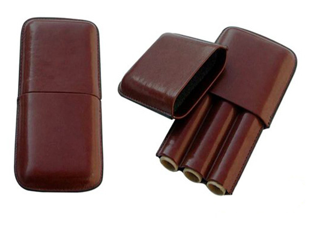 Brown Leather Travel Humidor