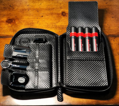 Full Carbon Cigar Travel Case