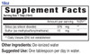 18oz Joint Support mineral blend, supplement facts - Eidon Ionic Minerals