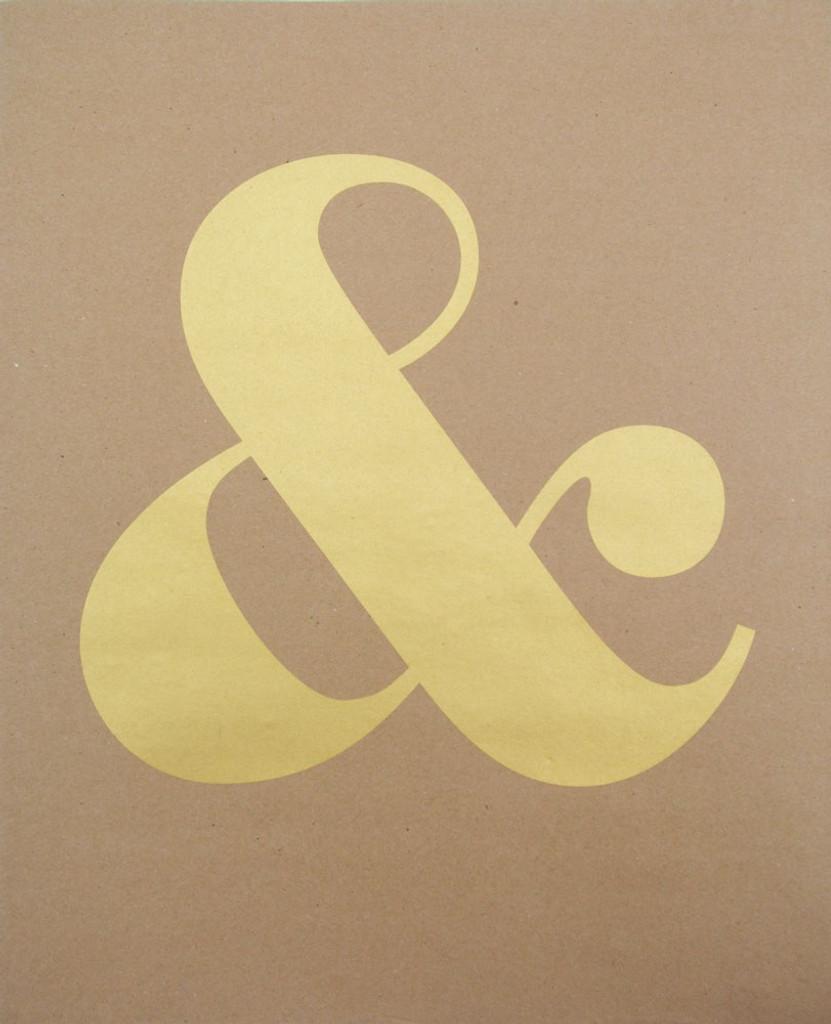 Ampersand - Gold Screenprint - Limited Edition Print