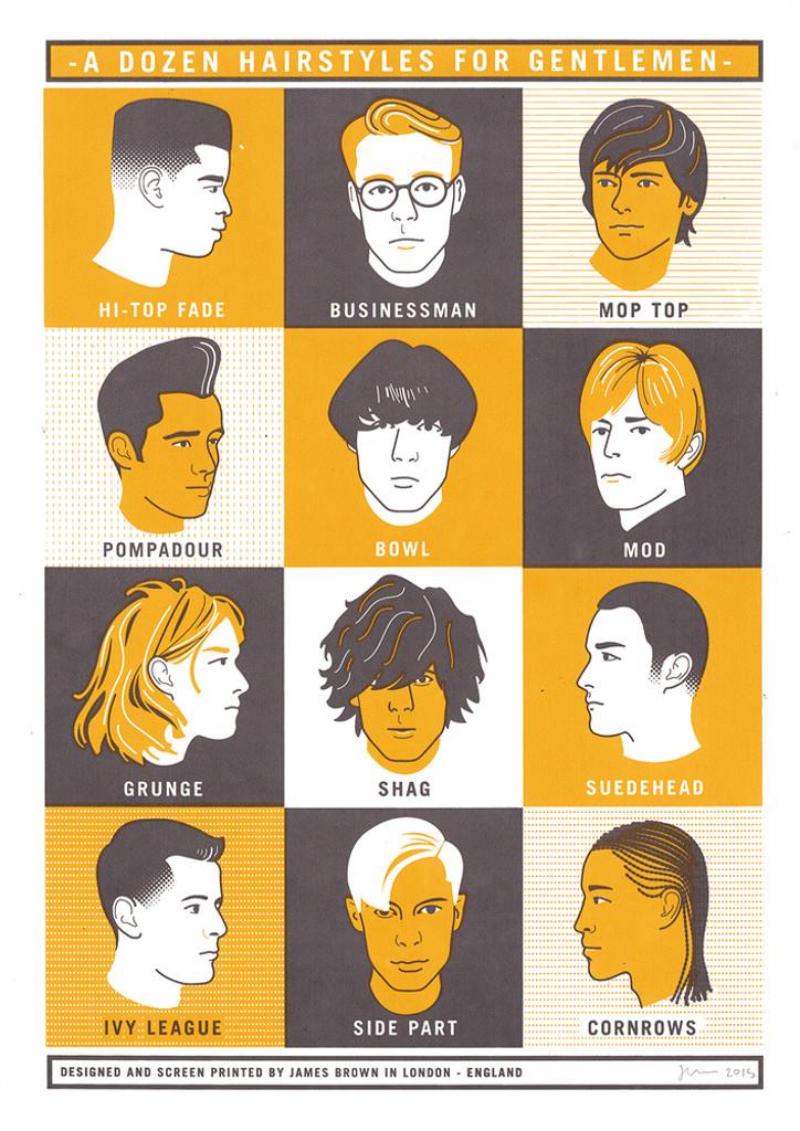 A Dozen Hairstyles for Gentlemen - Limited Edition Print