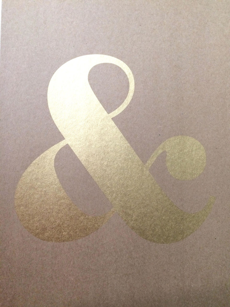 Gold Ampersand A3