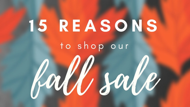 15 Reasons to Shop Our Fall Sale
