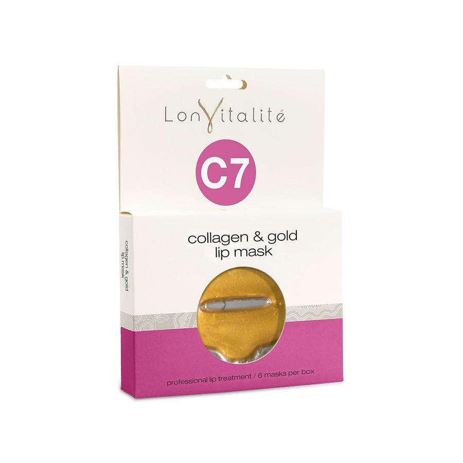 Lonvitalite C7 Collagen & Gold Lip Masks