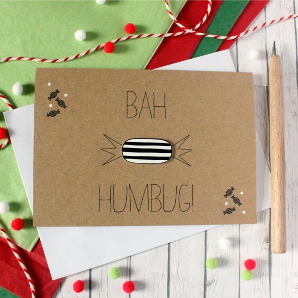 Christmas bah humbug grumpy christmas card little silverleaf bah humbug christmas card handmade christmas card christmas card xmas card holiday m4hsunfo