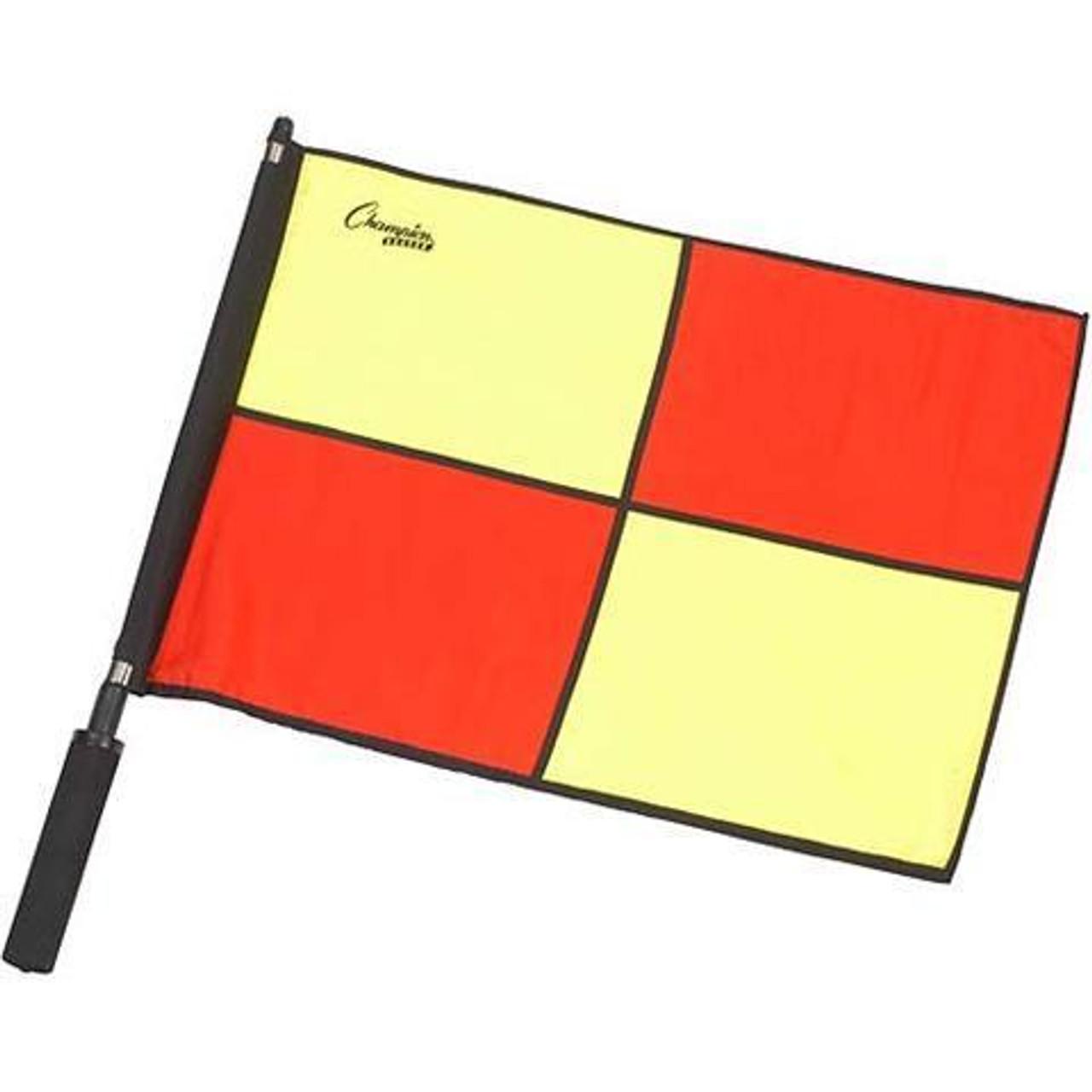 Champion Sports Checkered Bi-Color Flag