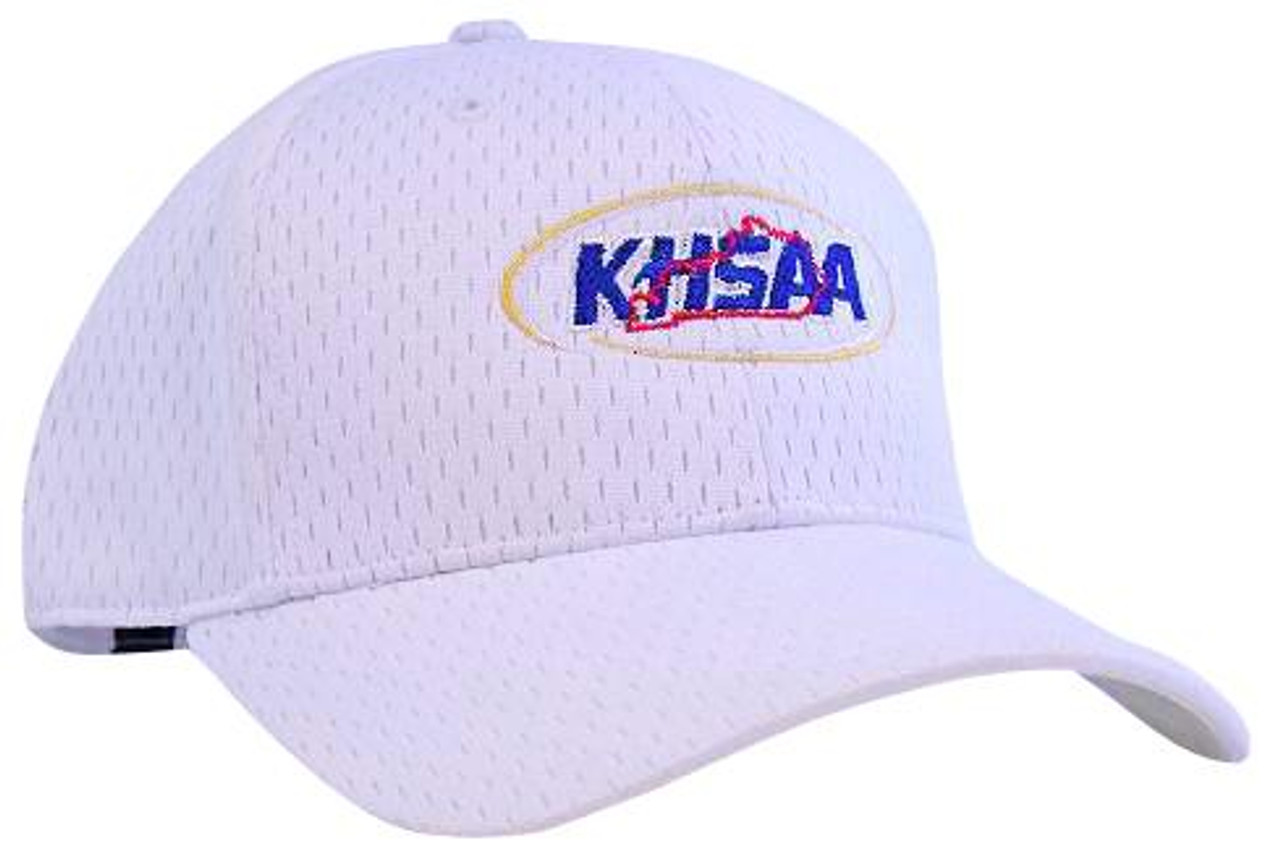 KHSAA White ProMesh Fitted Referee Cap