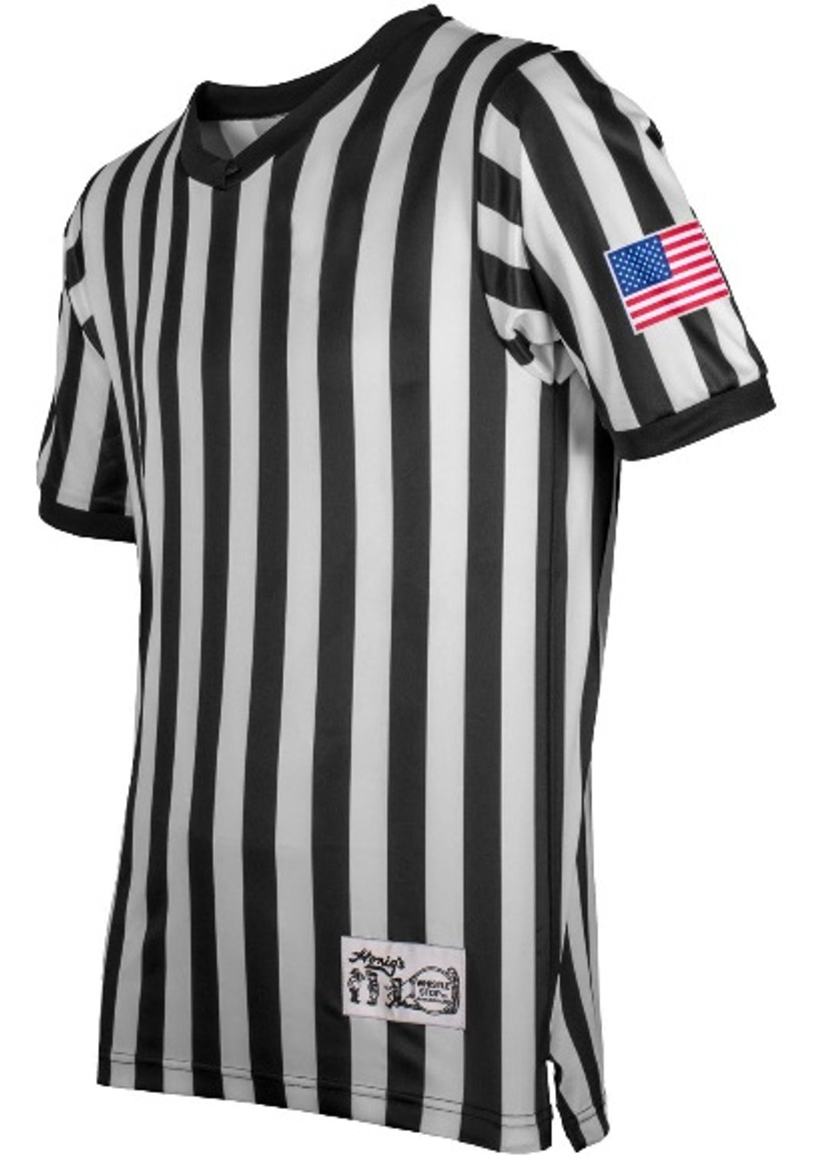Honig's Ultra Tech Referee Shirt with Dye Sublimated US Flag
