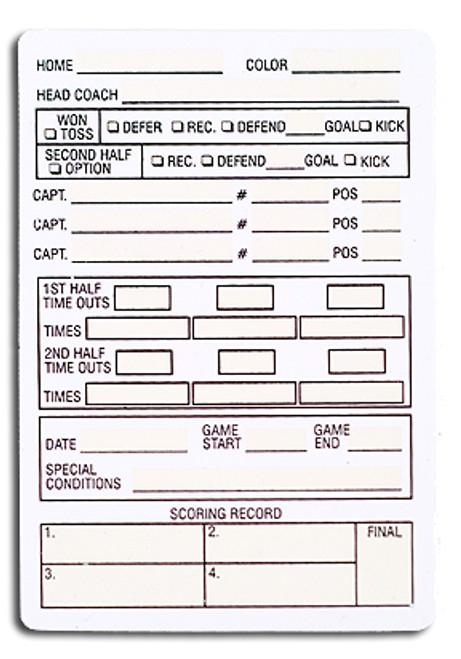 Plastic Football Referee Game Card