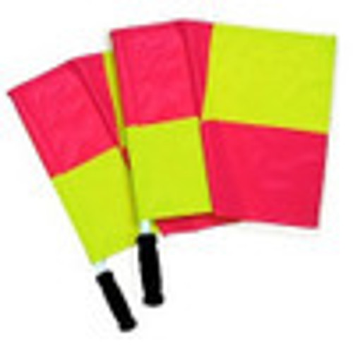Soccer Referee Neon Quartered Flags