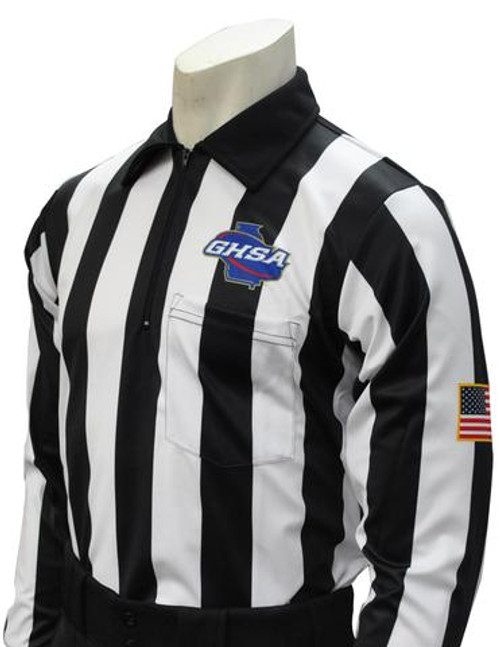 Smitty Georgia GHSA Dye Sublimated LS Football Referee Shirt