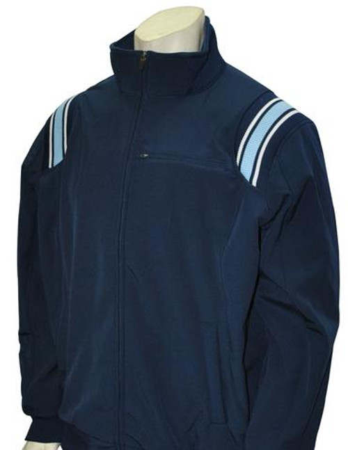 Navy Therma Base Umpire Jacket with Powder and White Trim