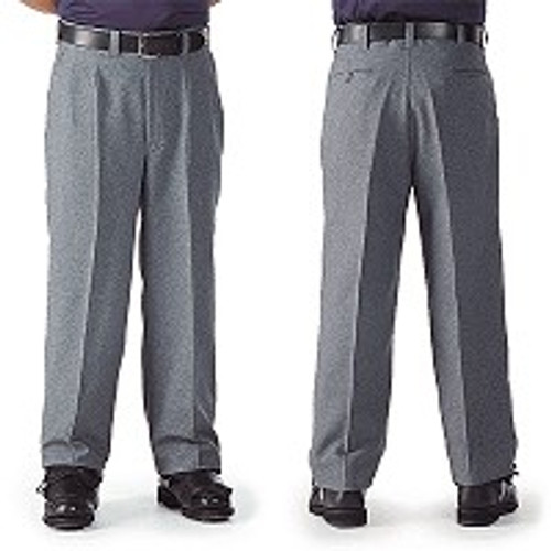 Smitty Heather Grey Pleated Combo Umpire Pants