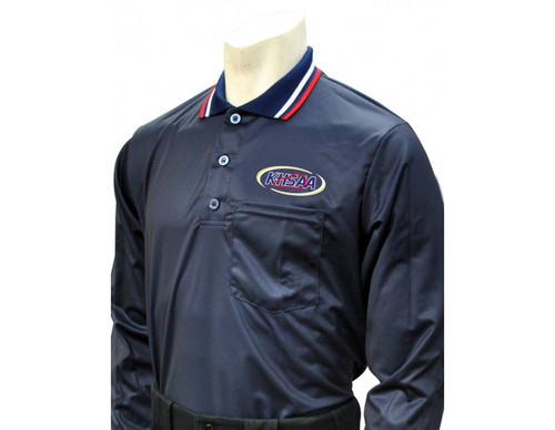 Kentucky KHSAA Navy Dye Sublimated Long Sleeve Umpire Shirt