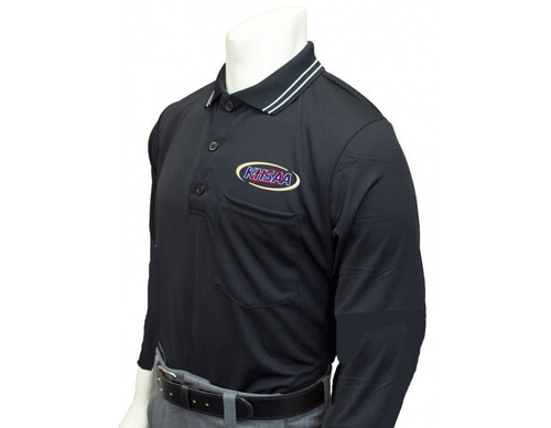 Kentucky KHSAA Black Dye Sublimated Long Sleeve Umpire Shirt