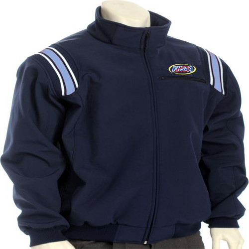 KHSAA Navy Therma Base Umpire Jacket with Powder Blue Trim