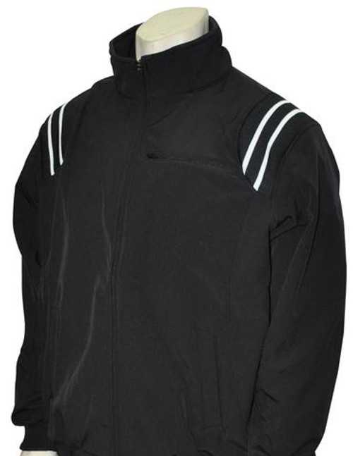 Black Therma Base Umpire Jacket with Black and White Trim