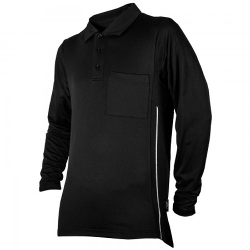Honig's Black Pro Style Long Sleeve Umpire Shirt