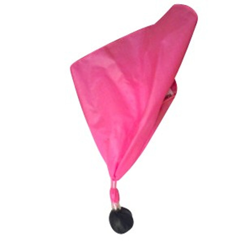 Pink Football Referee Penalty with Black Ball