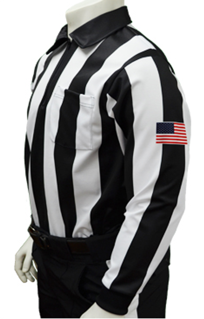 "Smitty Dye Sublimated Long Sleeve 2 1/4"" Football Referee Shirt"