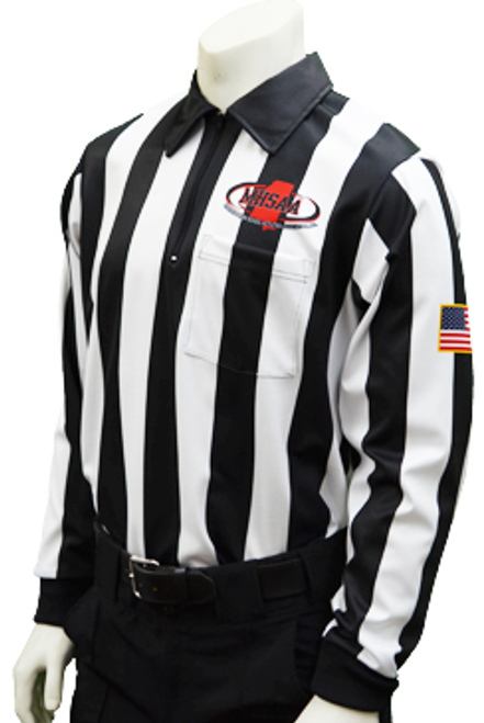 "Smitty Mississippi MHSAA Long Sleeve 2"" Football Referee Shirt"