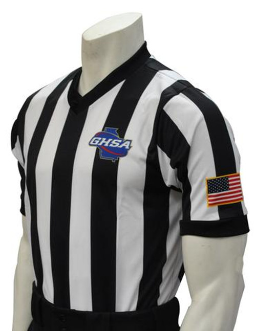 Georgia GHSA Dye Sublimated Basketball Referee Shirt