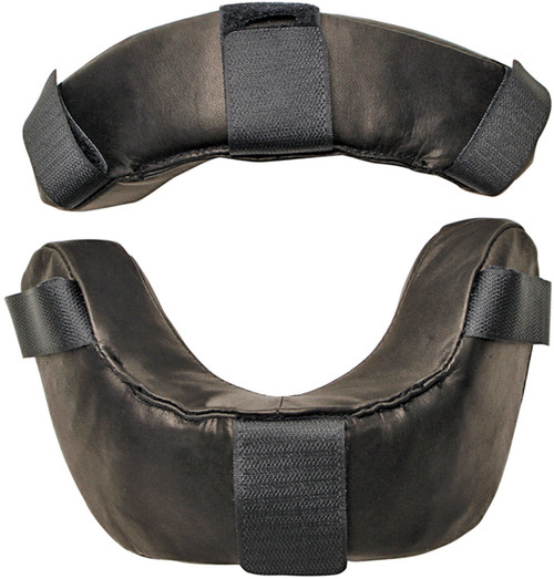 Diamond Black Leather Replacement Umpire Face Mask Pads